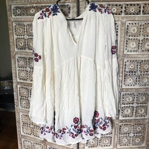 Free People Embroidered Tunic/Dress, Size S, NWT